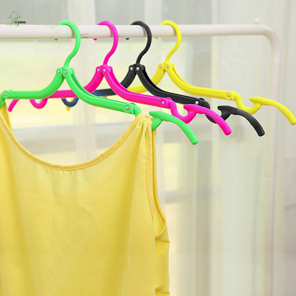YIHONG Superior quality Coat Hanger Rack Portable Foldable Hanger Folding Plastic For Travel Holiday Durable Clothes