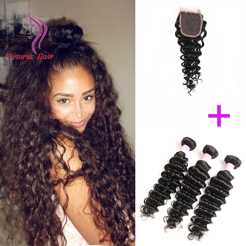 Comparar preos de medusa hair extensions compras on line medusa baratos brasileiras do cabelo 3 pacotes com fecho de cabelo onda profunda brazillian extenso do pmusecretfo Gallery