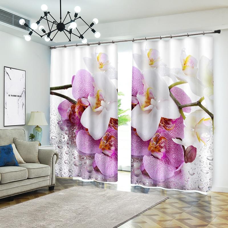 الإبداعية الزهور الصورة ل غرفة الفراش غرفة المعيشة أو فندق الستائر Cortians ظلة 3D نافذة الستائر-في ستائر من المنزل والحديقة على  مجموعة 1