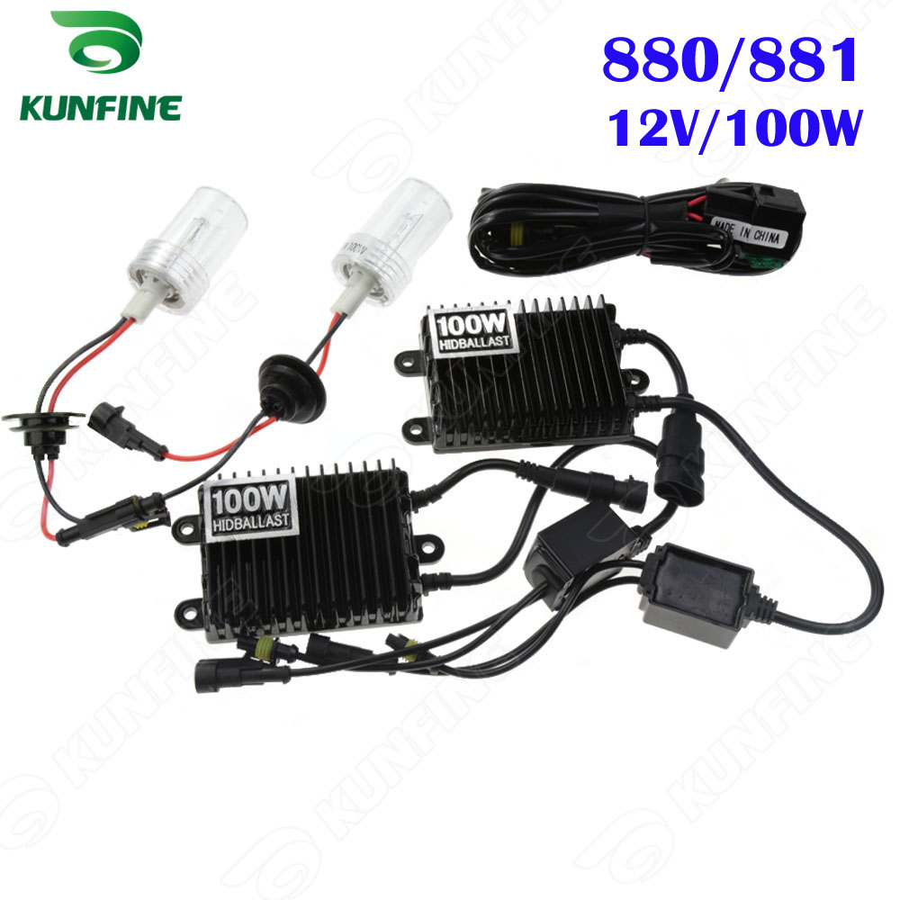 12V 100W Xenon Headlight 880 881 HID Conversion xenon Kit Car HID light with AC ballast