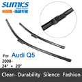 "Wiper blades for AUDI Q5 (from 2008 onwards) 24""+20""  fit push button type wiper arms only"