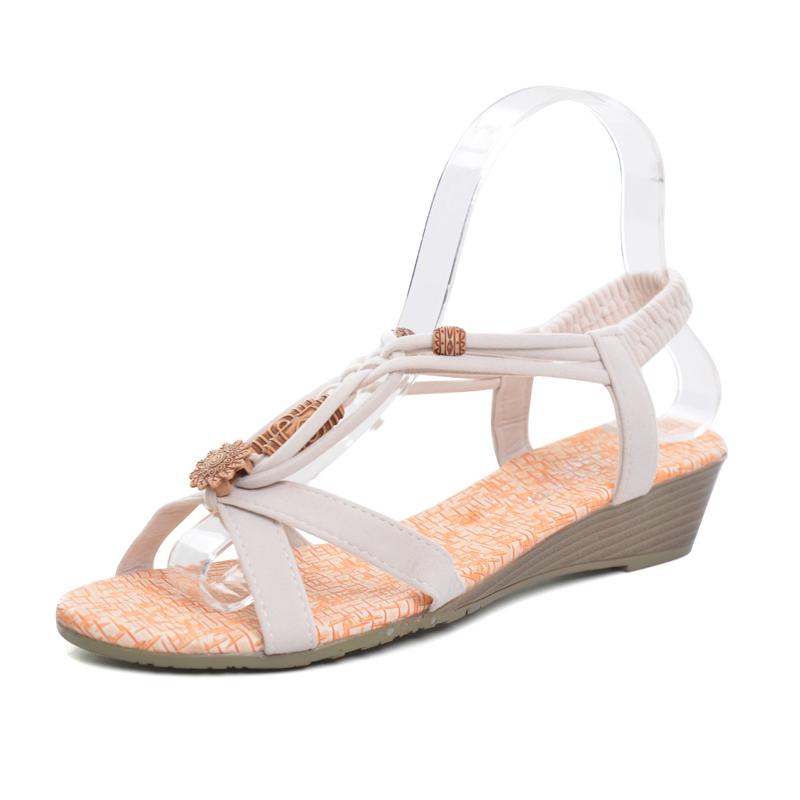 Vintage Gladiator Wedge Sandals
