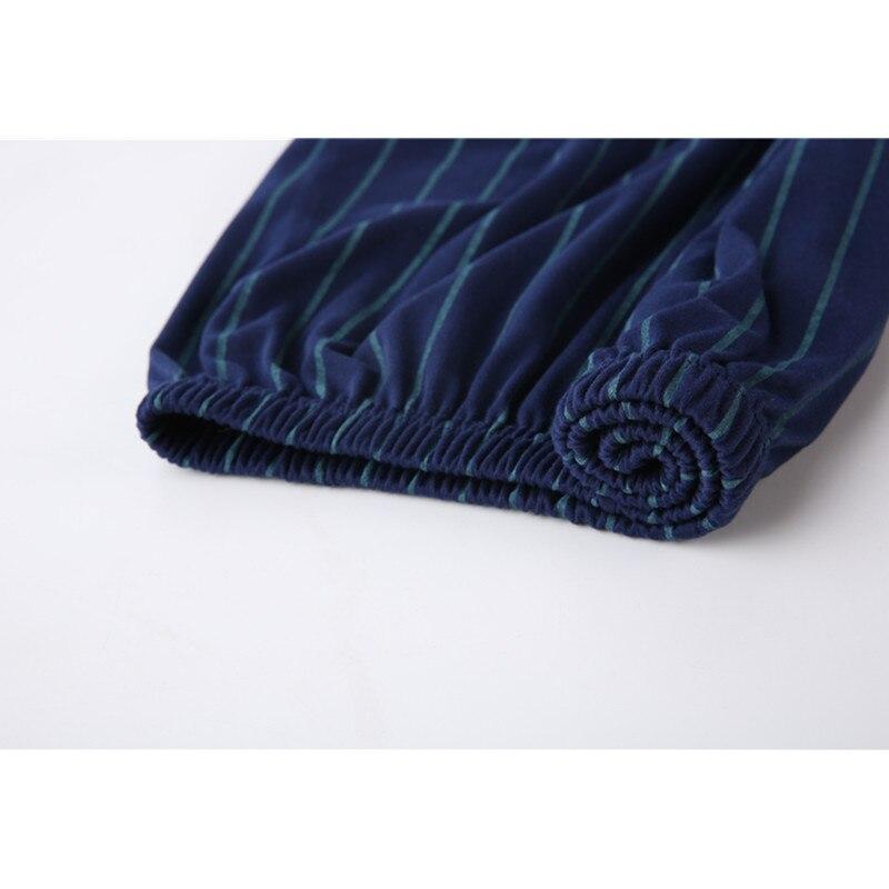 Yuzhenli Men's Pajamas Spring Long Sleeve Cotton Pyjamas Sleepwear Male Stripe Lounge Pajama Sets Plus Size Nightwear 3XL