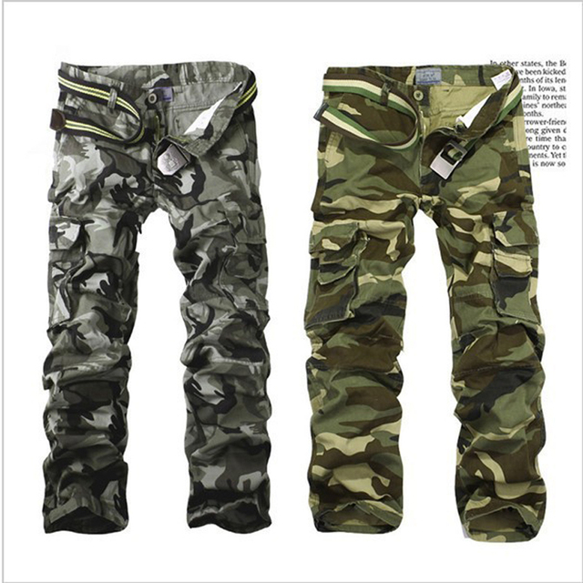M-6X Mens Jogger Autumn Camouflage Military multi-pocket pants Straight Outdoors Camouflage pants Loose Comfortable Trousers