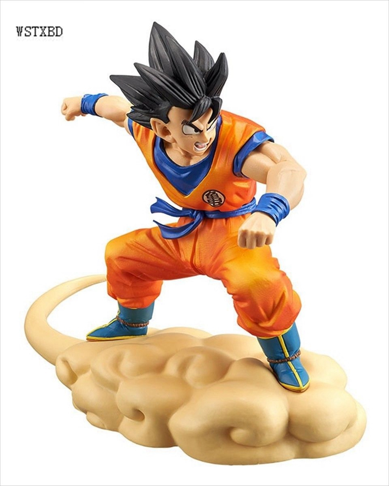 WSTXBD BANPRESTO Original Dragon Ball Z DBZ Flying kintoun nimbus Youth Goku PVC Figure Toys Figurals Model Dolls new original dragon ball z dbz blue god vegetto final pvc figure toys figurals model kids dolls