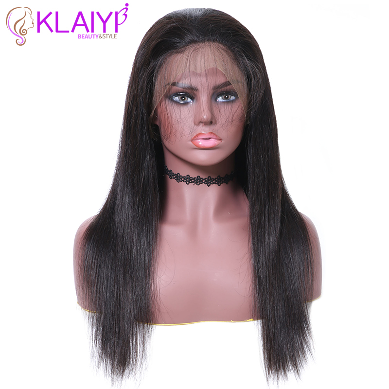 Klayi Hair Brazilian Straight Remy Hair Lace Front Wigs Human Hair Wigs With Baby Hair 13*5 Inch Swiss Lace 10-26inch Lace Wigs Hair Extensions & Wigs