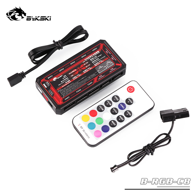US $4 25 15% OFF|BYKSKI RGB use for Block 12V RGB LED Strip Light / Support  Connect to 12V RGB 4PIN Header in Motherboard/ only compatible Bykski-in