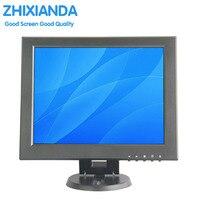 12 дюймов Мини ПК Дисплей Мониторы 1024x768 HD VGA резистивный Сенсорный экран Мониторы POS машина небольшой сенсорный Мониторы