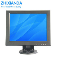 12 Inch Mini PC Display Monitor 1024x768 HD VGA Resistive Touch Screen Monitor POS Machine Small