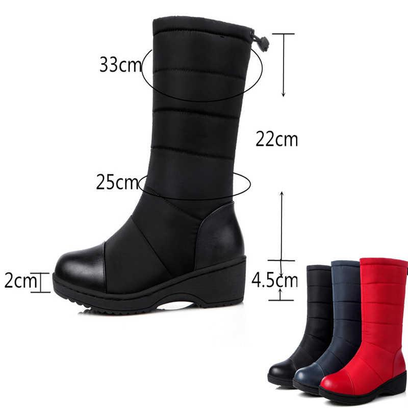 REAVE KEDI Rusya kadın çizmeler Büyük boy 35-43 sıcak kar botları tutmak platformu kış orta buzağı çizmeler moda ayakkabılar katı Ayakkabı A800