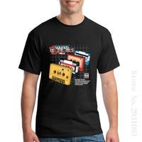 Niestandardowe Party Mężczyźni T Shirt Dźwięki Vol2 z 80 s 80 s muzyka Rekordy Krótki Rękaw Odzież O Neck męskie Koszulki z długim rękawem Biały koszula
