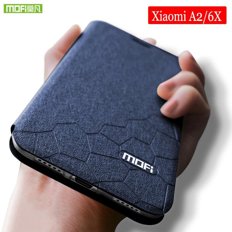 Für xiaomi mi 6x fall weiche Silicon Mofi für xiaomi 6x fall Flip Leder für xiaomi mi a2 fall TPU Funda xiaomi a2 mi a2 fall 5,99