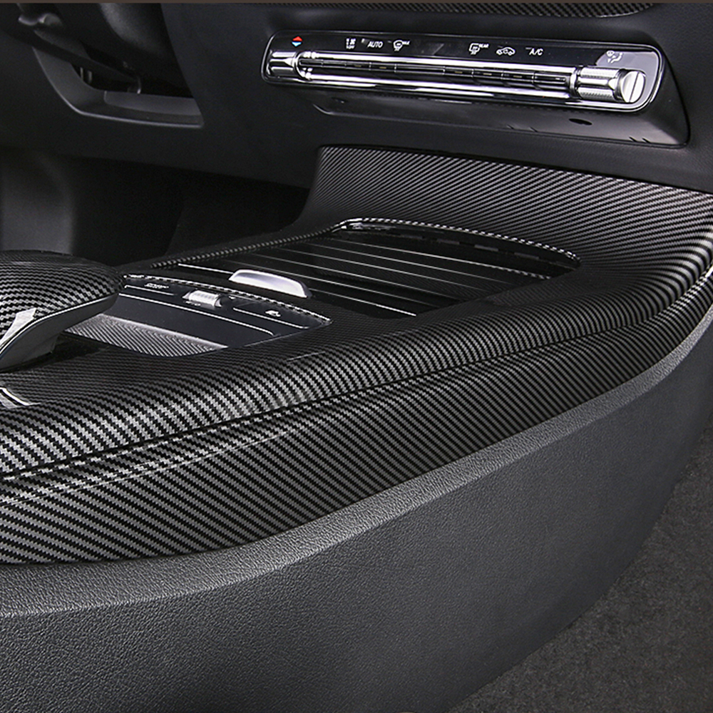 Car Center Console panel side Cover trim strip Carbon Fiber Decorative Sticker For Mercedes Benz A Class W177 A180 <font><b>A200</b></font> A220A250 image
