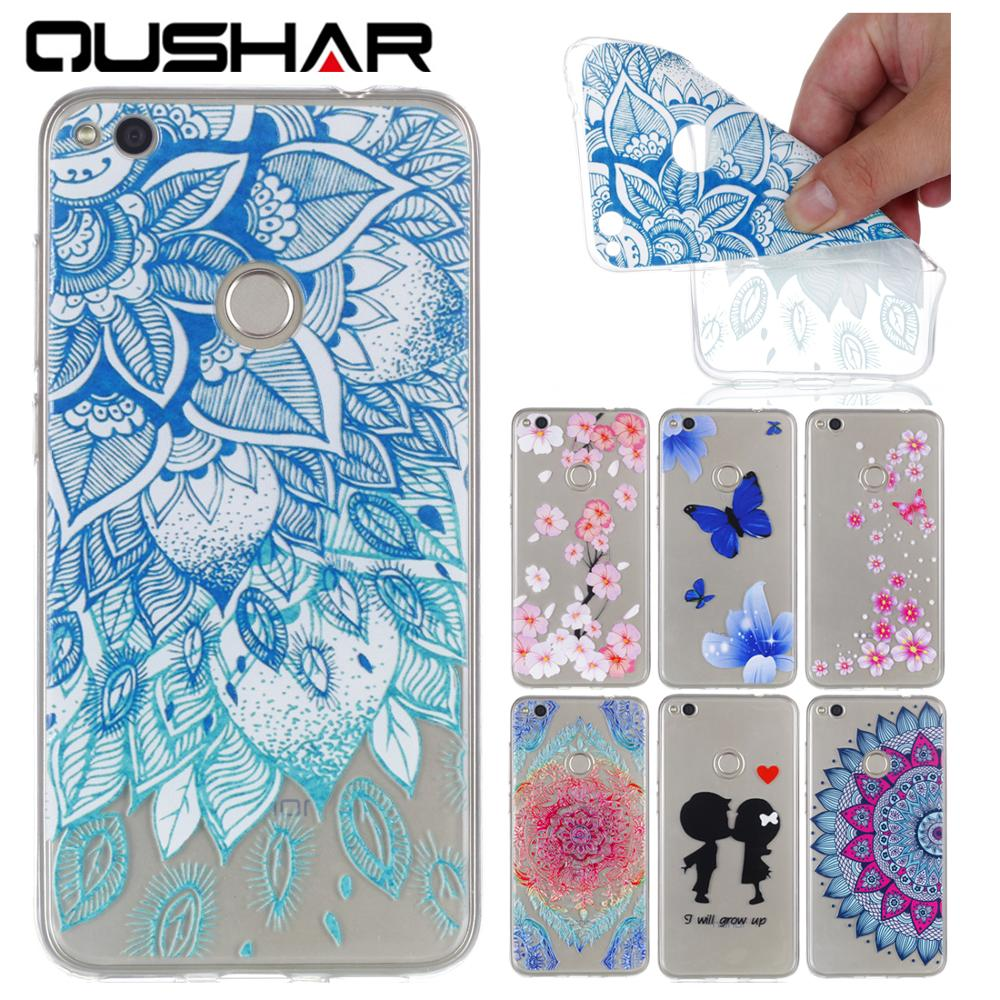 Cheap Ultra Thin TPU Silicone Soft Phone Case coque carcasa Cover Cove For Huawei Huaewi Hawei P8 lite 2017 Butterfly Flower ...