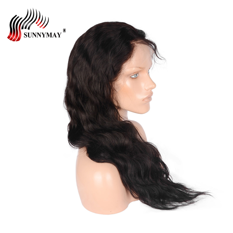 Sunnymay Lace Front Human Hair Wigs Body Wave Brazilian Virgin Human Hair Wigs With Baby Hair Bleached Knots