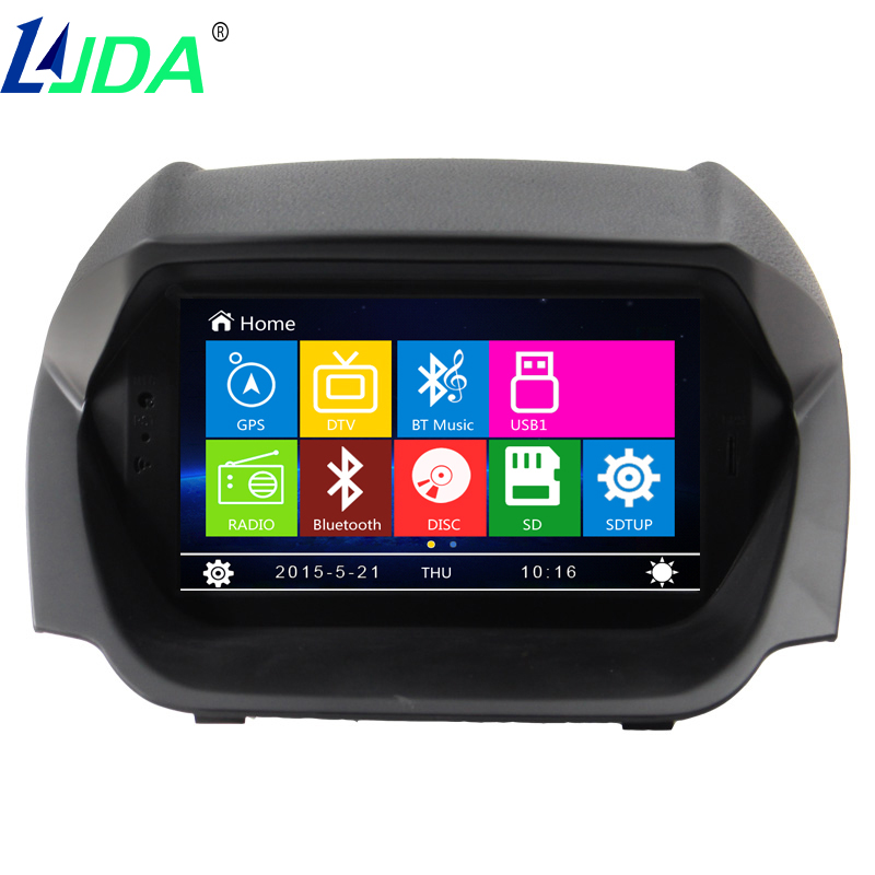 2din 7inch Wince Car GPS Navigation DVD Player For Ford EcoSport 2013 Car Entertainment System Multimedia