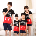Family Clothing Look Fashion Striped Short-sleeve T-shirts Tees Matching Outfits Clothes For Mother Mom Daughter And Father Son