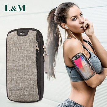6inches Running Bag with Earphone Hole Jogging Gym Running Armband Bag Mobile Phone Pouch Holder Outdoor Sport Fitness Wrist Bag 1