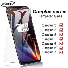 ZLNHIV tempered glass for oneplus 7 pro 6 6T 5 5T 3 3T phone screen protector for oneplus 7 protective film on glass smartphone