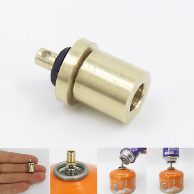 Cylinder Filling Butane Canister Gas Refill Adapter`Copper Outdoor`Camping S XG