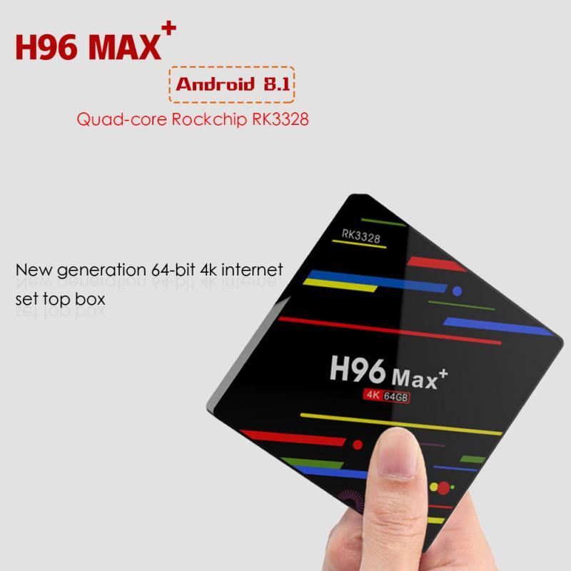 H96 MAX TV Box Android 8.1 RK3328 Quad Core 4 gb 64 gb Set Top Box 2.4g WiFi USB 3.0 BT 4.0 4 k Media Player цена