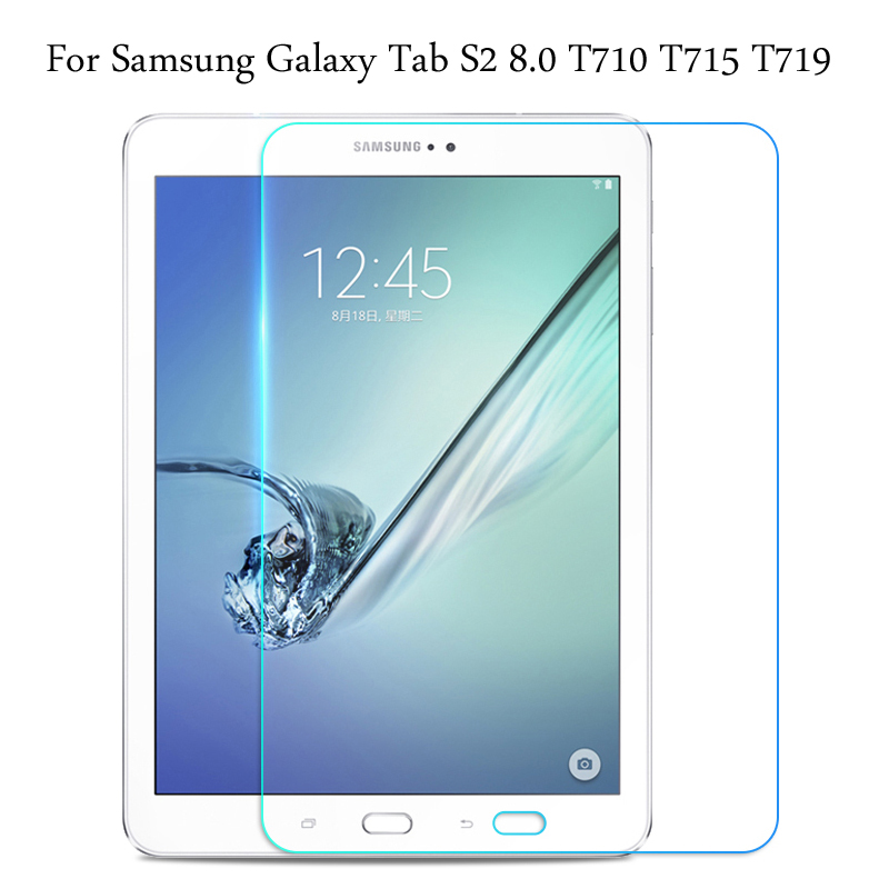 Tempered Glass Membrane For Samsung Galaxy Tab S2 8.0 SM- T710 T715 T719 Steel Film Tablet Screen Protection Toughened