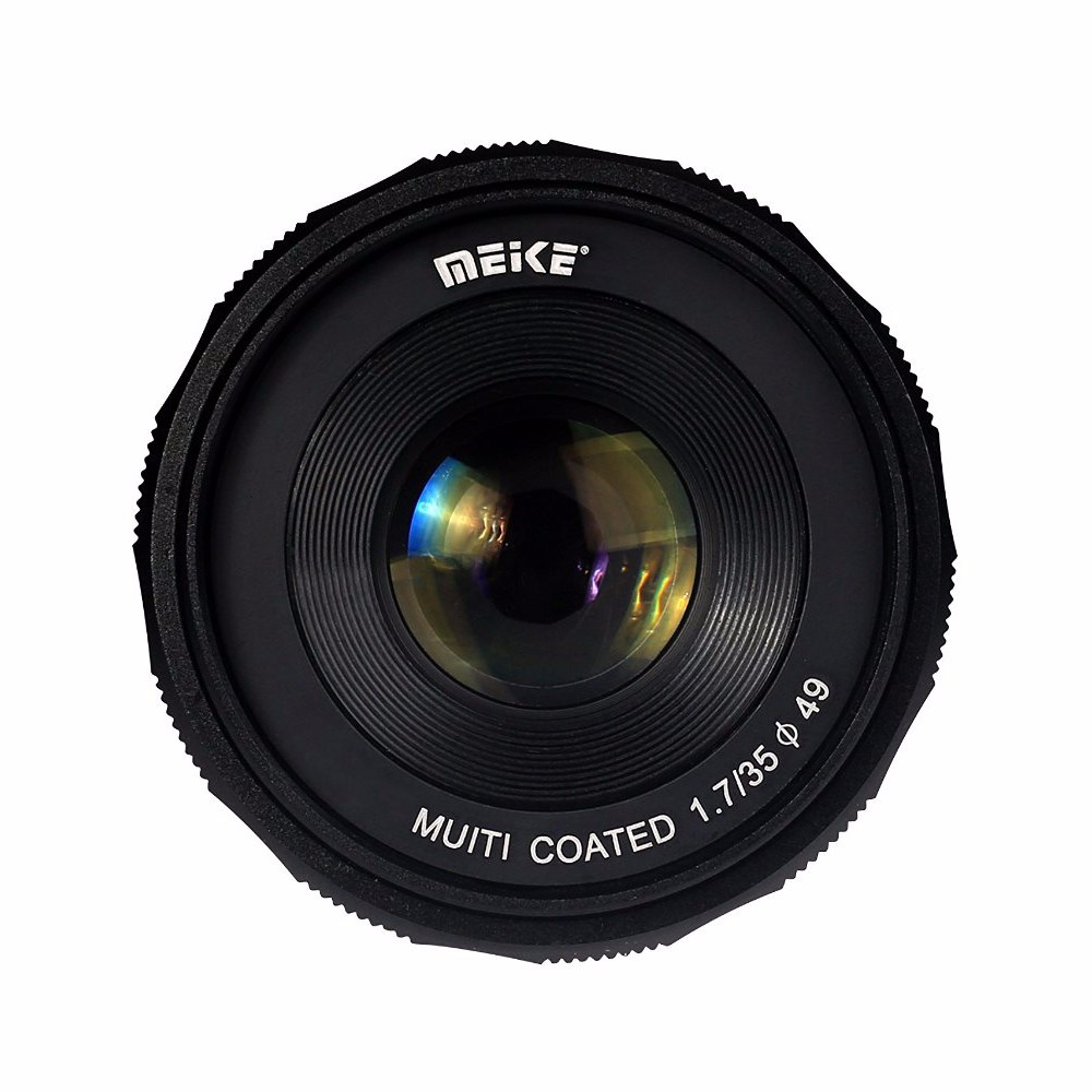 MEIKE MK-E-35-1.7 35mm F1.7 Large Aperture Manual Focus APS-C Camera Lens for Sony E Mount NEX3 NEX5 ILDC Mirrorless Camera