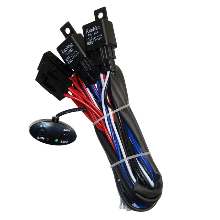 Remarkable 12V 260W Dual Relay On Off Car Light Power Switch Wiring Cable 2X Wiring Database Gramgelartorg