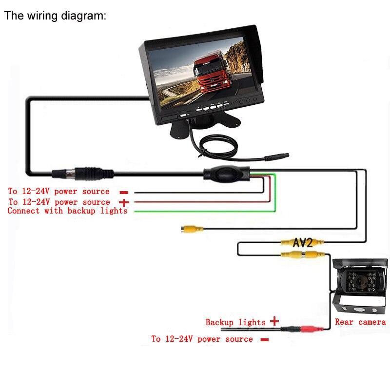 Sinairy Dc 12 V 24 V 7 Inch Tft Lcd Monitor Mobil Ir Malam Visi Ccd Rear View Kamera Untuk Kendaraan Truk Van Caravan Trailer Kemping Tft Lcd Car Monitor Car Monitorlcd Car Monitor