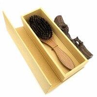 זיפי חזיר הבר אמיתי שיער קומבס מברשת אלמוג Brosse Cheveux Sanglier Pinceis El Peine Pente טיפוח שיער סטיילינג כלים L-979