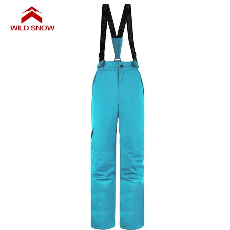 Pantalon de Ski hydrofuge femme hiver sports de plein air snowboard bavoir salopette pantalon coupe-vent Ski des neiges pantalon S-XXL - 4
