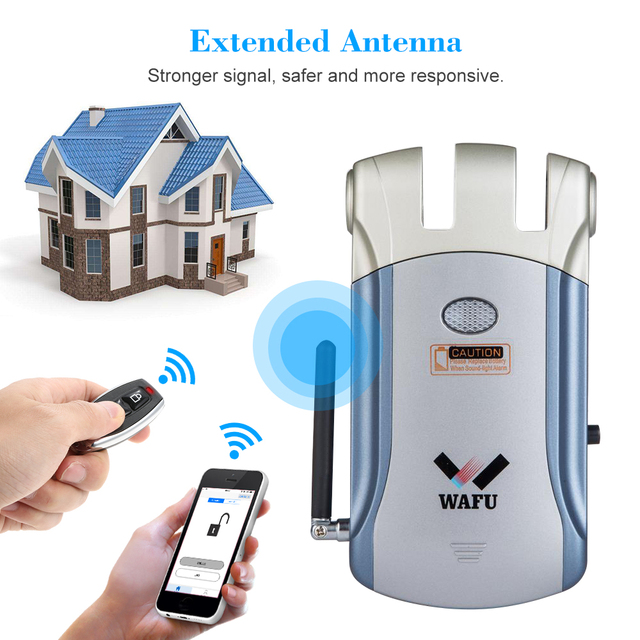 Wafu Keyless Entry Electronic Remote Door Lock Invisible Intelligent