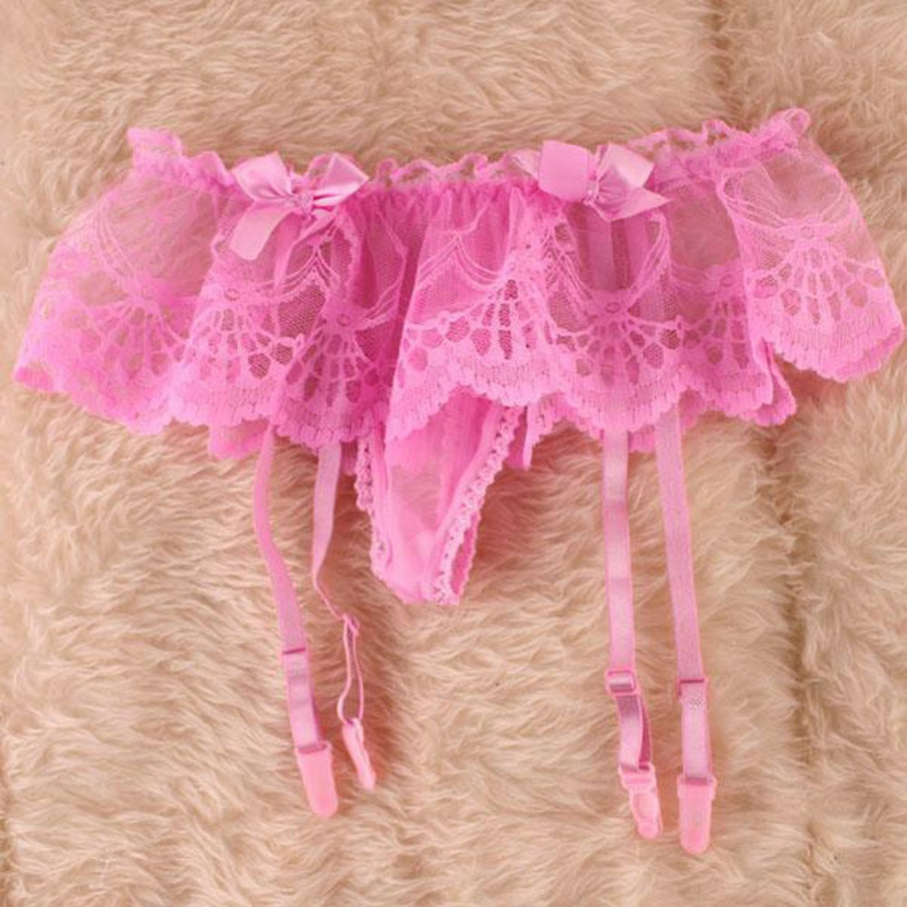 Suspender G-String Fit Stocking Garter Belt Sexy Lingerie Women Girls Lace