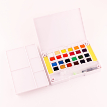 12/18/20/30/36/40 Watercolor Paint Box Portable Solid Painting For Artist Student Drawing Art Supply