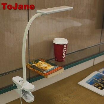 ToJane TG912 3-nível De Brilho Conduziu a Lâmpada de Leitura & Cor Desk Lamp 8 W Diodo Emissor de Luz Da Lâmpada de Mesa