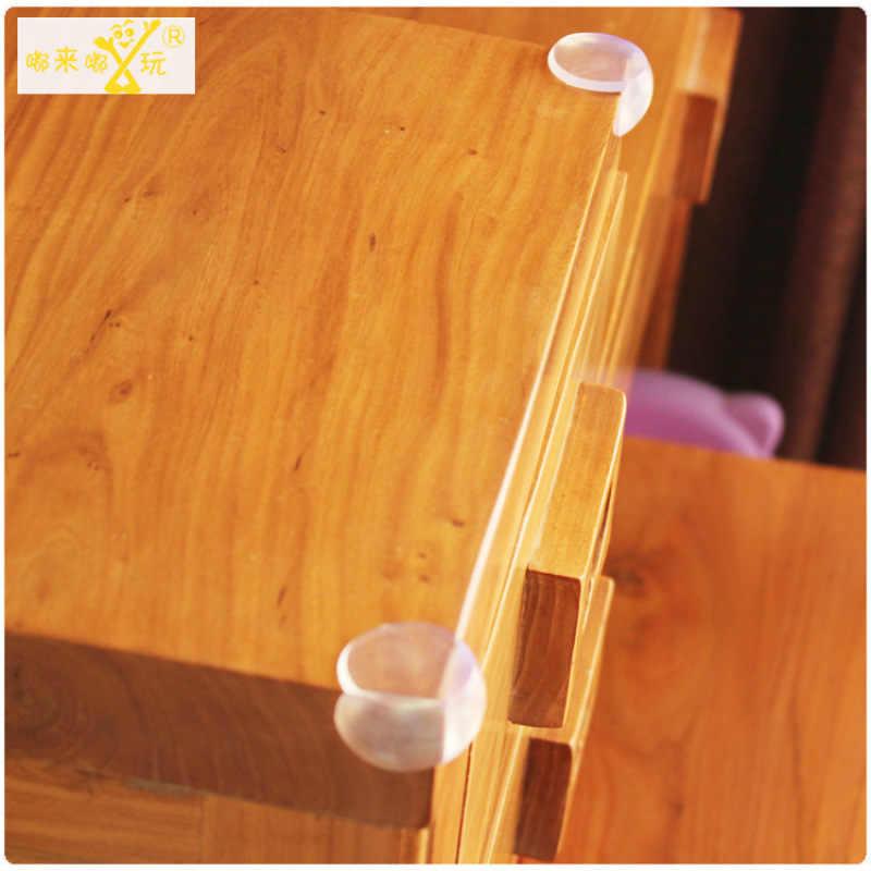 Protectores de esquina de bola transparentes de ángulo Anti-colisión de silicona de imitación productos de seguridad para bebés en esquina de 1 Uds