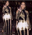 Celebrity Fashion Dress Beading Long Sleeve Sexy Bodycon Dress Red Carpet Dress High Quality