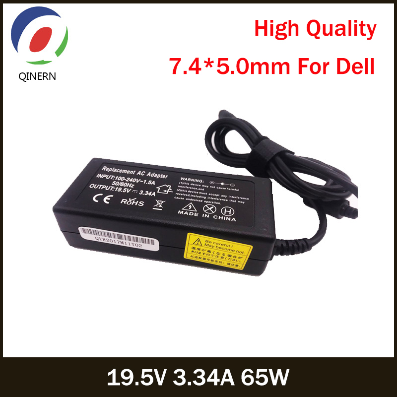 QINERN 19.5V 3.34A 65W 7.4*5.0mm AC Laptop Charger Power Adapter For Latitude 2120,2100,2110,D430 D400 D410 For Dell Laptop