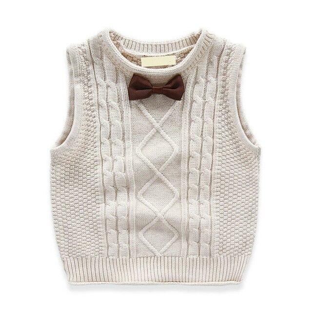 Mode Frühling Herbst Gestrickte Casual Jungen Pullover Weste Baby Jungen Adrette Weste Kinder Oberbekleidung Weste Kinder Strickwaren