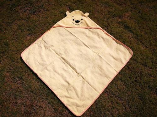 Детское банное полотенце с квадратным капюшоном с изображением совы и лисы/пляжные полотенца для детей - Цвет: bear