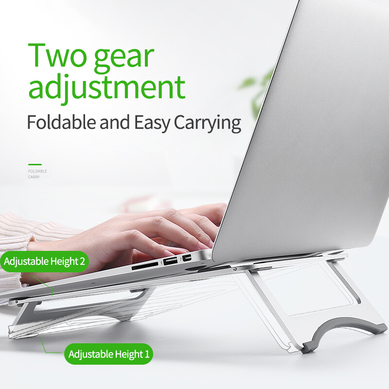 Silver Aluminum Laptop Stand Tablet Stand Universal for Apple MacBook Air Pro 11 15 inches Folding Adjustable Office Notebook-in Laptop Stand from Automobiles & Motorcycles