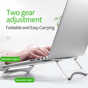 Image 1 - Silver Aluminum Laptop Stand Tablet Stand Universal for Apple/MacBook Air Pro 11 15 inches Folding Adjustable Office Notebook