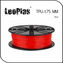 Worldwide Fast Delivery Manufacturer 3D Printer Material 1kg 2.2lb Soft 1.75mm Flexible Red TPU Filament