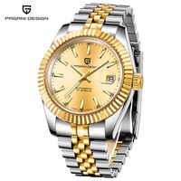 Reloj Mecánico PAGANI para hombre reloj de pulsera automático Retro para hombre reloj negro impermeable de acero completo Montre Homme newWatch