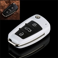 Tcart 새로운 ABS 소재 제품 자동차 없음 스마트 키 커버 아우디 a3 8 마력 8 볼트 a4 B7 B8 a6 a8 tt q7 분기 Q5 s6 s3 s4 키