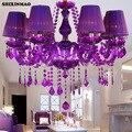 Fabrik direkt Luxus lila Europäischen stil wohnzimmer kristall lampe wohnzimmer dekoration esszimmer/schlafzimmer/wohnzimmer-in Deckenleuchten aus Licht & Beleuchtung bei