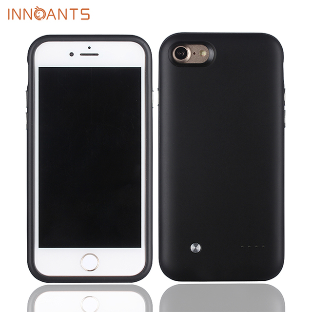 Innoants Power Case Portable Battery Charger Case For iphone 7 Plus mobile phone 2800mAh Anti fingerprints ultra slim
