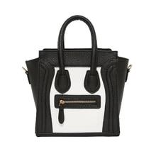 Classic European and American Smiley Handbags Hollywood Stars' Smile Messenger Bags Vintage Patchwork Pu Leather Handbags BG309