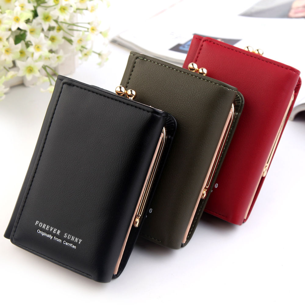 Wallet Women 2019 Lady Short Women Wallets Crown Decorated Mini Money Purses Small Fold PU Leather Female Coin Purse Card Holder Women Women's Bags Women's Wallets cb5feb1b7314637725a2e7: Gold|Army green|black|Blue|Lavender|Pink|Red