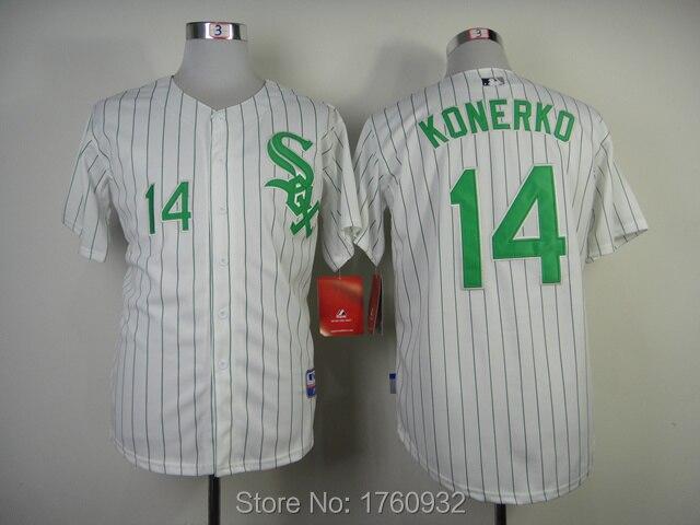 81188a30ab9 ... Aliexpress.com Buy 2015 Mens USA Baseball Jersey Chicago White Sox  Jersey 14 Paul Konerko ...
